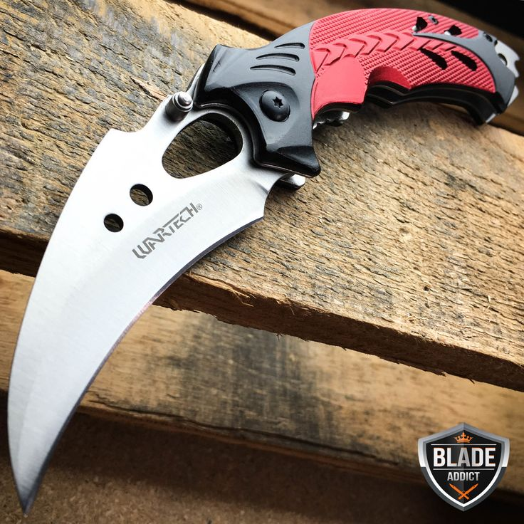 """8"""" RED TALON Karambit Claw Tactical Spring Assisted Open Folding Pocket Knife"""