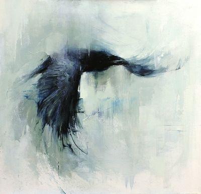 Flying Raven Painting 20x20raven-flying-web-