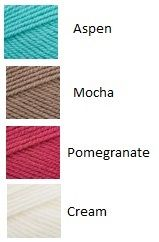 Teal, Brown, Pink and Cream