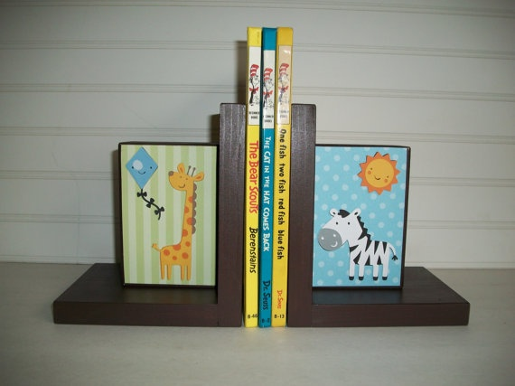 Personalized Bookends for Children by RessieLillian on Etsy, $40.00