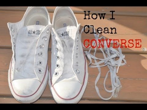 ☥ miriam☥ pin+ chucks+How I Clean Converse. Youtuber shows how to clean your chucks and laces.