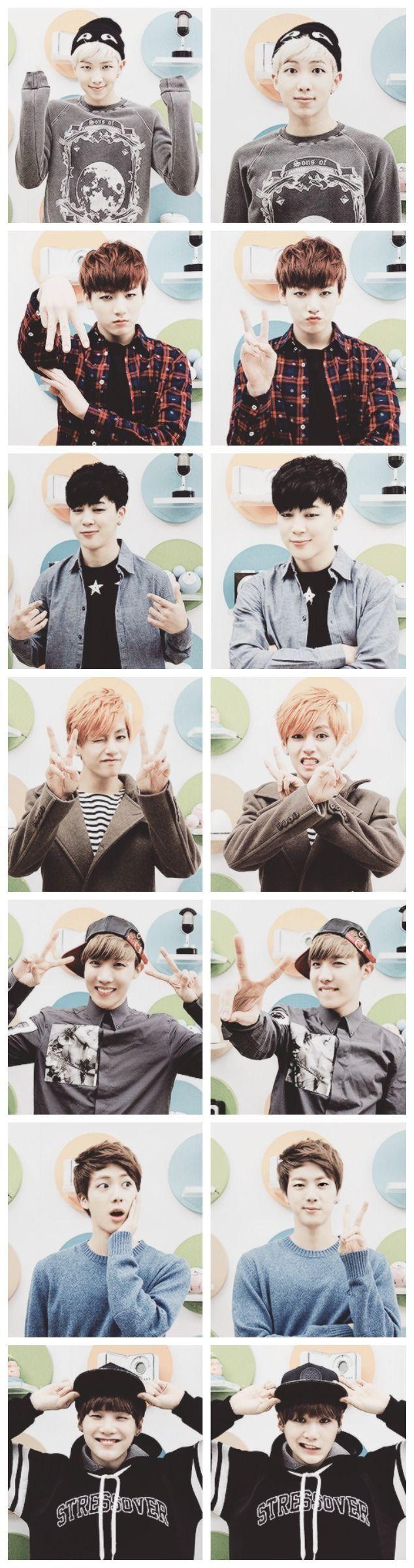 Awwwww cute, but Jin looks like a little puppy