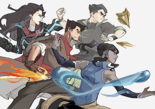 Legend of Korra: new team avatar