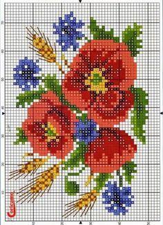 cross stitch poppy - Google'da Ara