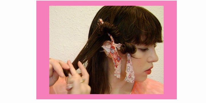 How to do rag curls. I don't have long hair any more, but this was handy when I did.