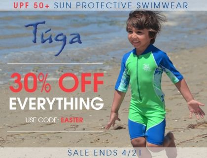 We're very happy to announce the unveiling of our New 2014 Tuga Sunwear Collection for boys and girls: new styles in colorful and fun prints. Get to shopping with our 30% off everything sale, even on sale items. Use code EASTER at checkout. Be quick as the sale ends on April 21, 2014.