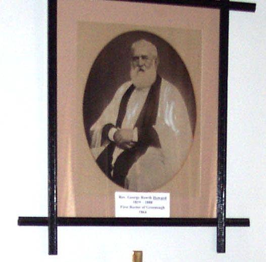 Framed photo of Rev Howard, Anglican minister at Greenough.