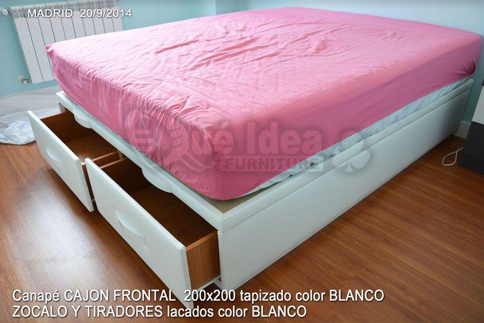 Cama canapé con cajón, CAJON FRONTAL