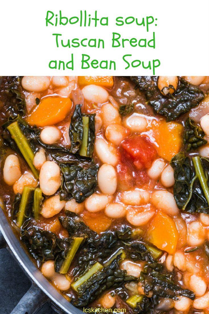 Ribollita soup, traditional recipe from Tuscany, Italy. #italianfood #italianrecipes #recipeoftheday
