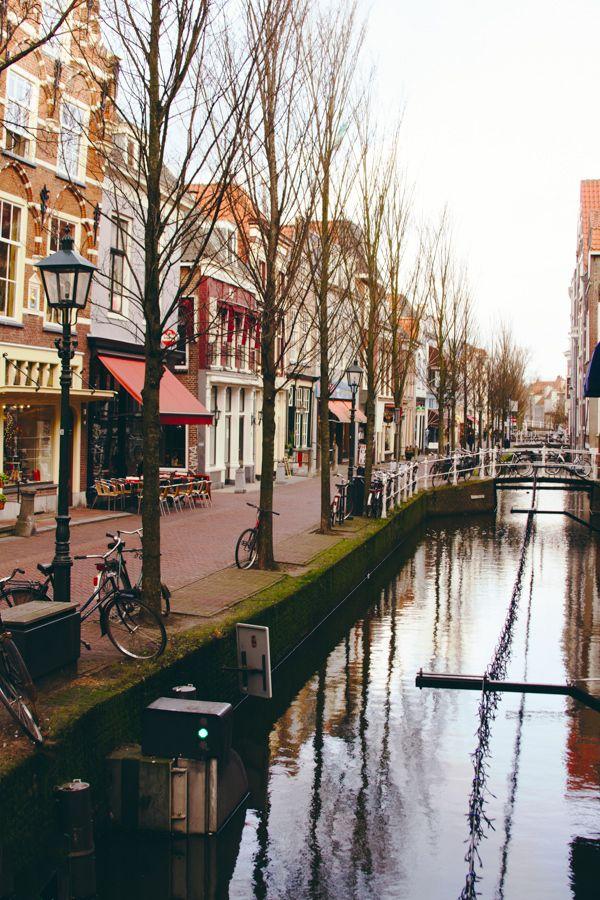 Winter in Delft, Holland