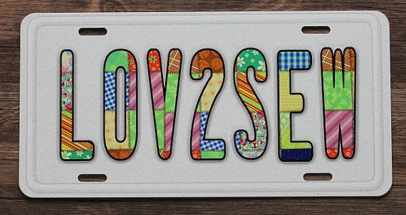 "Elegant Car License Plate ""LOVE2SEW"" for those of US Model - florida handyman license Elegant"