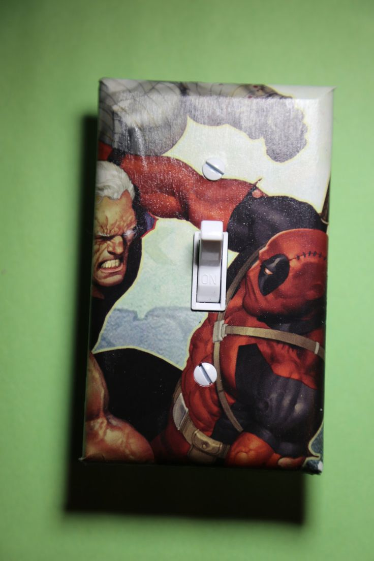 Deadpool Vs Cable Comic Book Superhero Light Switch Plate