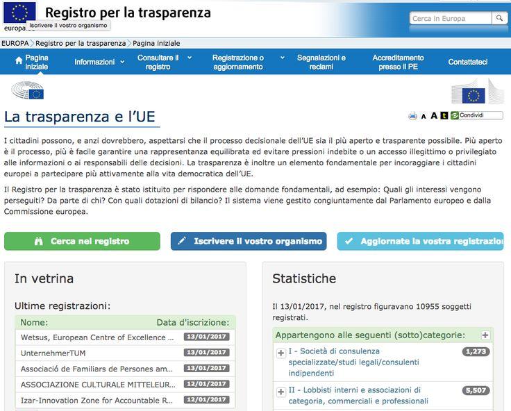 I tanti problemi del registro europeo delle lobby http://blog.openpolis.it/2017/01/16/registro-europeo-per-la-trasparenza-un-buon-inizio-ma-tanti-troppi-problemi/13203