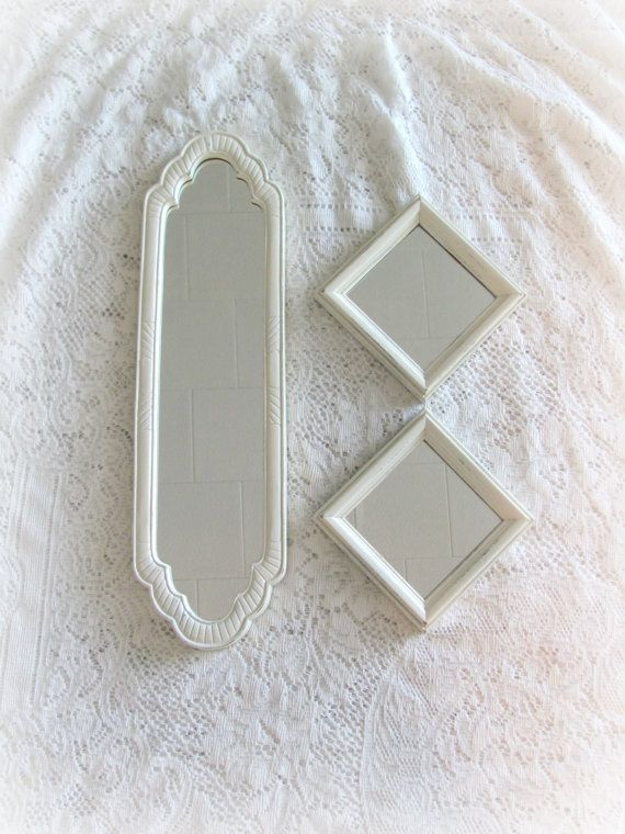 Vintage Wall Mirrors Set of Three Antique by theshabbychateau