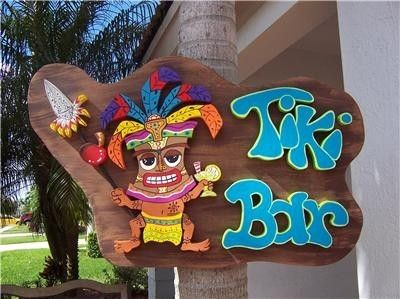 LOVE LOVE LOVE this persons art!  I want one of each!    Tropical Tiki Bar Home Decor Wood Sign by DreamCreationsArt, $69.95