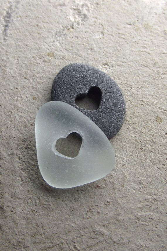 Sea glass and beach stone pocket pebbles         Copyright ~ Sea Find Designs