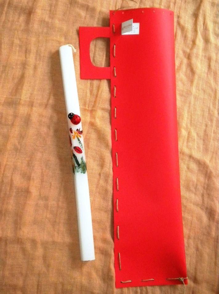 ζωγραφιστή λαμπάδα πασχαλίτσες