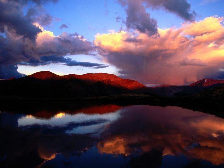 Hovering Above Mount Elbert Colorado