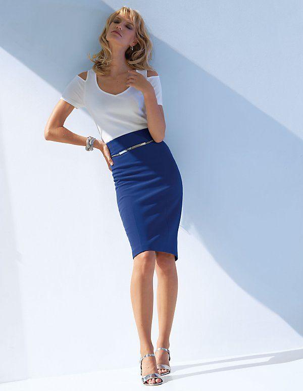 Schulterfreier Pullover mit kurzen Ärmeln | Madeleine Mode Schweiz
