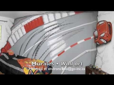 Wall Art mural - trompe l'oeil  murale www.go-inc.ca