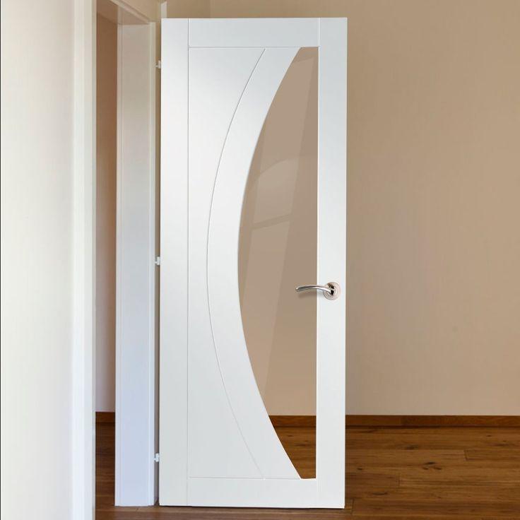 Bespoke Salerno White Primed Oak Glazed Door. #bespokedoor #internalglazeddoor #whitebespokeinternaldoor