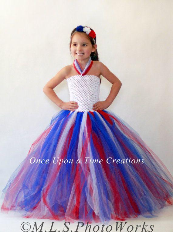American Pride Tutu Dress Red White & Blue by OnceUponATimeTuTus