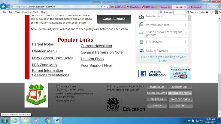 Go to student portal from LPS
