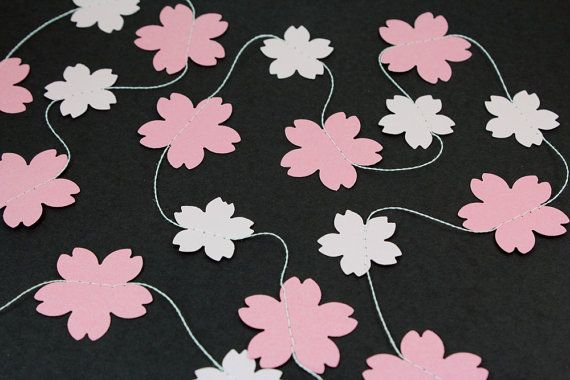 Cherry Blossom Paper Garland Birthdays Weddings Baby