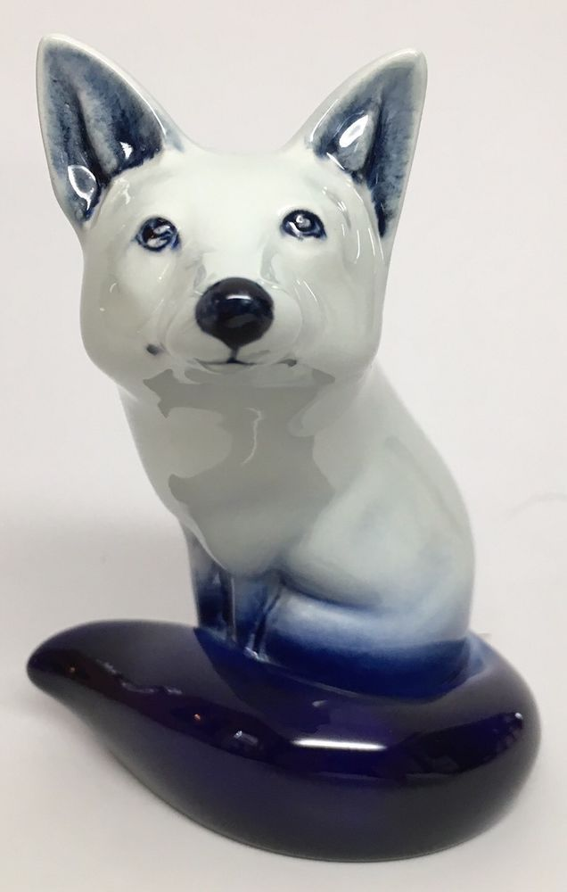 Royal Doulton Blue Flambe Fox Figurine  | eBay