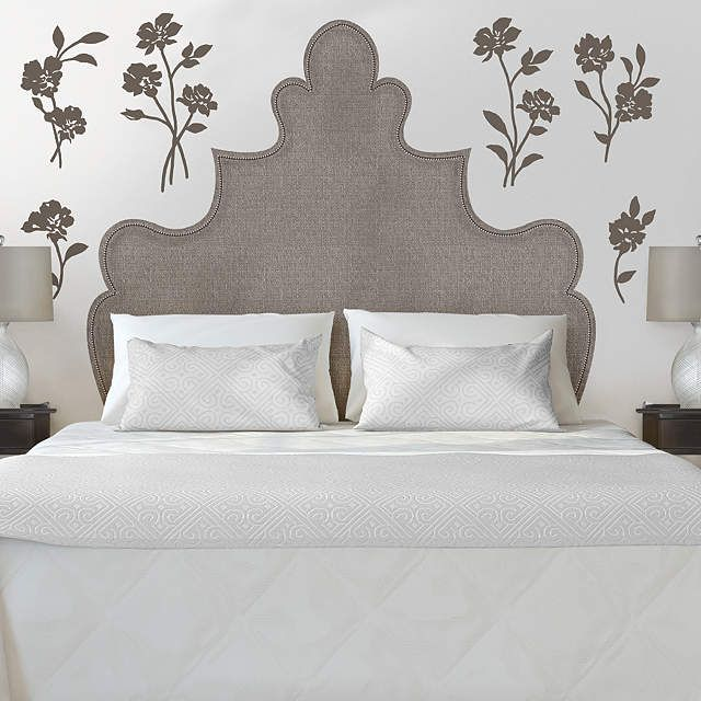 We love soft linen tones for our bedrooms. Get the look with Martha Stewart Wall Art Decals, from Fathead!