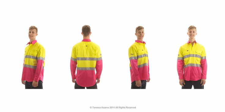 Hi-Viz (high visibility safety clothing) is tricky to photograph for accurate representation. Mark at Workwear Hub switched to Terence Kearns photography to pursue better results than he was getting with another photography service. I worked with Mark to achieve just the right outcome he was looking for, and have been providing him with quality product photography since 2012.