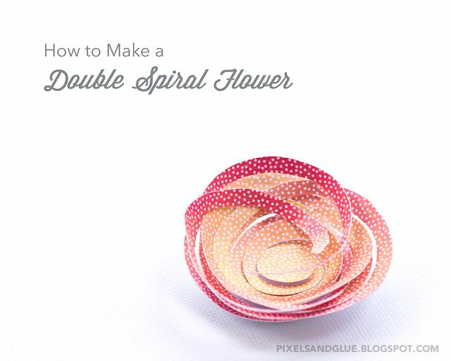 How to make a double spiral flower from paper by @pixnglue paper