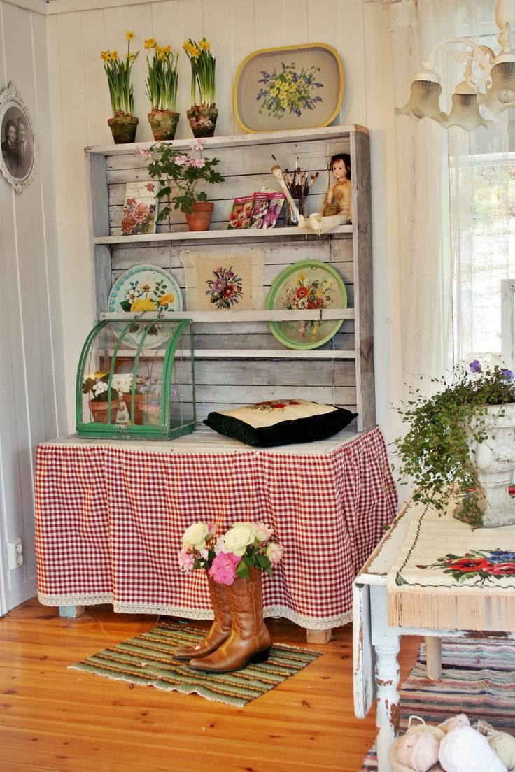 Rustic country cottage decor - A Little Corner In A Rustic Country Room