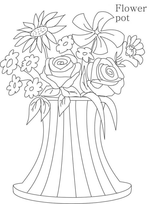 Floreros 30 Dibujos Faciles Para Dibujar Para Ninos Colorear Blumen Vase Malvorlagen Blumen Blumenvase