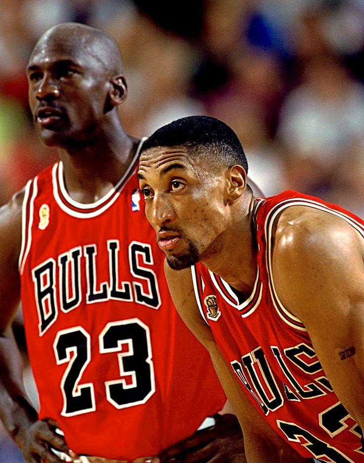Michael Jordan and Scottie Pippen. Chicago Bulls