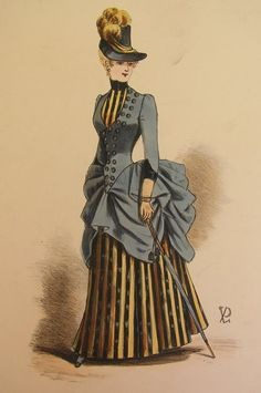 """victoriansweetheart: """" {Outfits Emilia would wear: Victorian fashion 1880s-1890s. It's the time of the bustle!} """""""