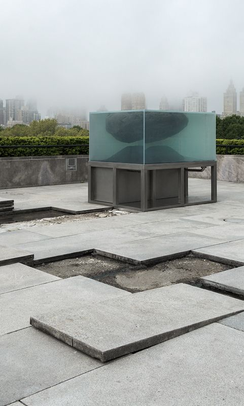 The Roof Garden Commission Pierre Huyghe | Through Nov 1 | If the stunning Central Park and city views weren't enough, Pierre Huyghe's site-specific installation also includes a maze of rocks and water and a tank containing some cool sea animal we are still trying to figure out the name of. Note strollers must be checked at one of the museum entrances. Good spot for a snack (purchase or bring your own) and fresh air break.