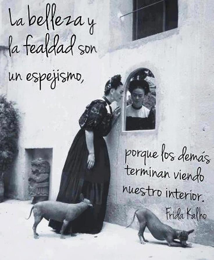 """""""La #Belleza y la fealdad son un espejismo, porque los demás terminan viendo nuestro interior."""" #FridaKalho #Citas #Frases #Candidman"""
