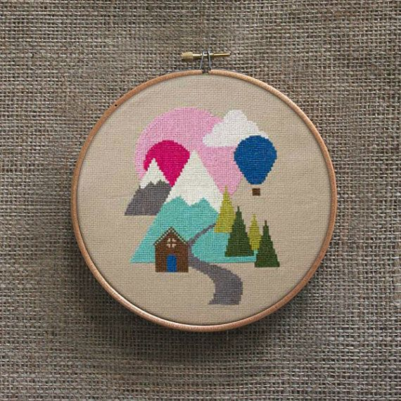 Hillscape Cross Stitch Pattern Digital Format  PDF by Stitchrovia