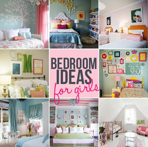 Inspiring Bedrooms for Girls  Also lots of ideas for wall hangings