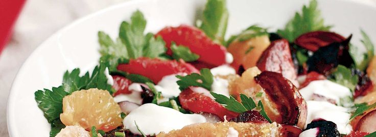 Citrus Salad with Beets and Quark -
