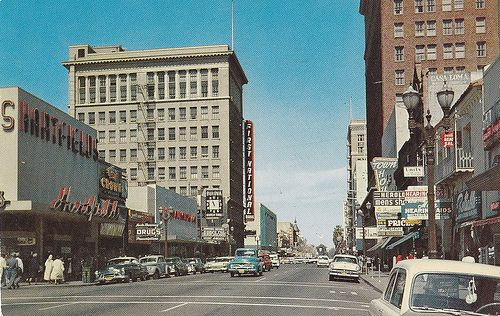 Vintage Downtown San Jose, California  1960's spent the summer of 1967 in CA visiting relatives in San Jose and Santa Barbara.