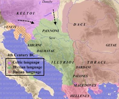 MAP Dacians, Thracians and Illyrians during the Celtic invasion of 4th century BCE