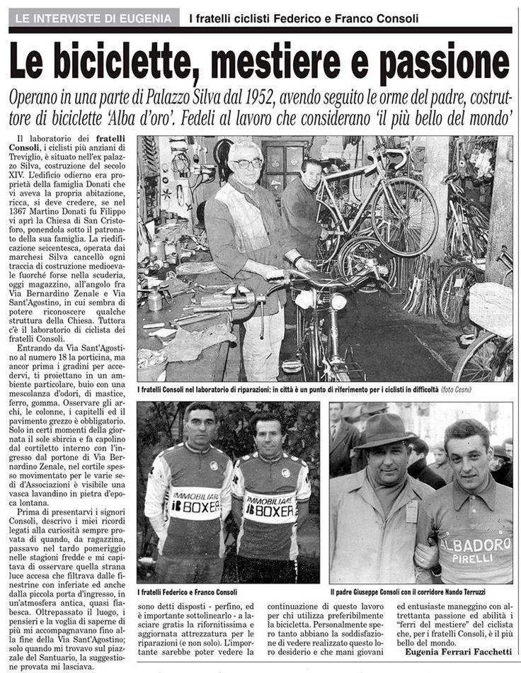 Treviglio : i fratelli ciclisti Federico e Franco Consoli