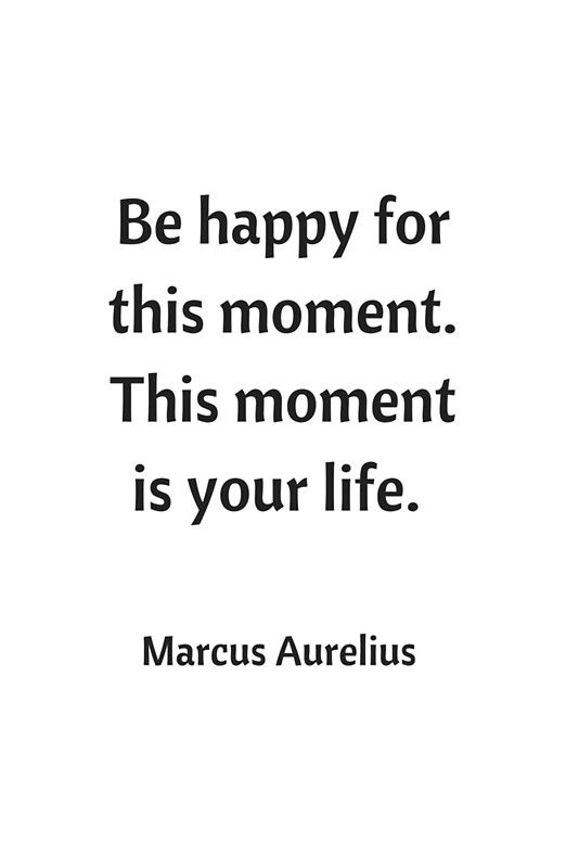 BE HAPPY FOR THIS MOMENT - STOIC QUOTE