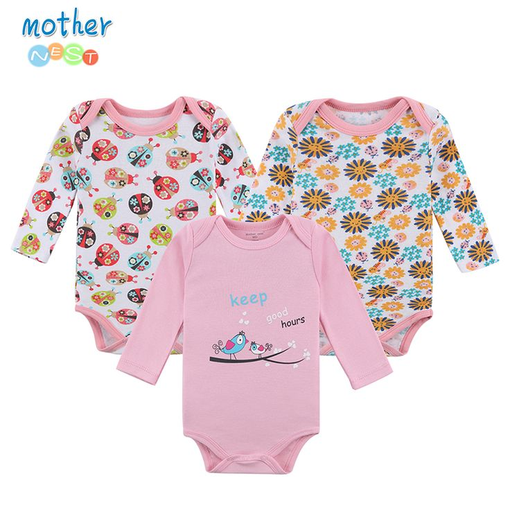 Mother Nest Baby Bodysuit 3 Pcs/lot Cotton Babies Newborn 100% Cotton Baby Body Long Sleeve Next Infant Boy Girl Climb Clothes