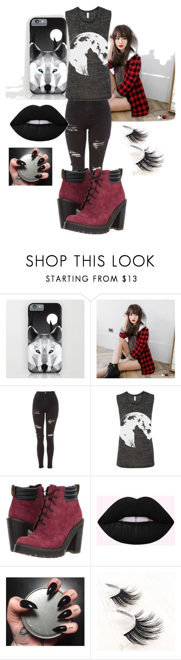 """""""Wolf howl"""" by angele-paukovic on Polyvore featuring mode, OrangeBear, Topshop et Dr. Martens"""