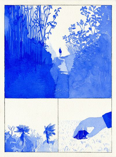 between winter and spring ~ a self-published zine of watercolors by byun young geun