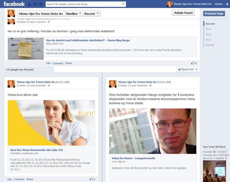 Våre Visma-tips finner du også på Facebook https://www.facebook.com/VismaTips?ref=hl