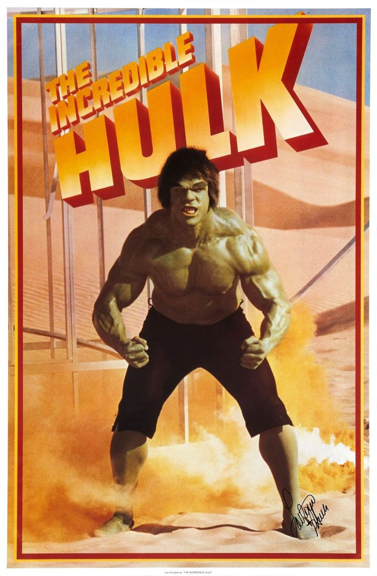 Lou Ferrigno as The Incredible Hulk THIS is Hulk as I remember it